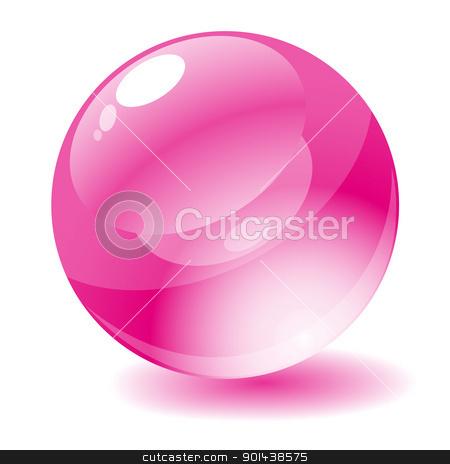 Vector illustration. Pink glossy circle web button. stock vector clipart, Vector illustration. Pink glossy circle web button. by mozzyb
