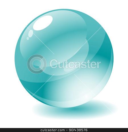 Vector illustration. Cyan glossy circle web button. stock vector clipart, Vector illustration. Cyan glossy circle web button. by mozzyb