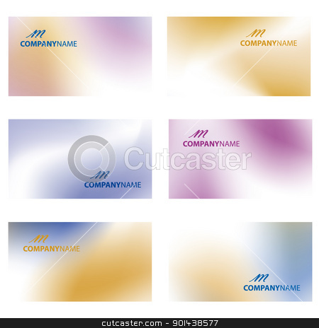 Business card vector illustration. stock vector clipart, Business card vector illustration. by mozzyb