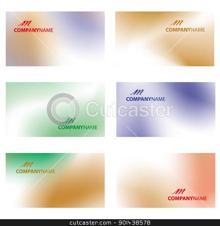 Business card vector illustration. stock vector clipart, Business card vector illustration. by mozzyb