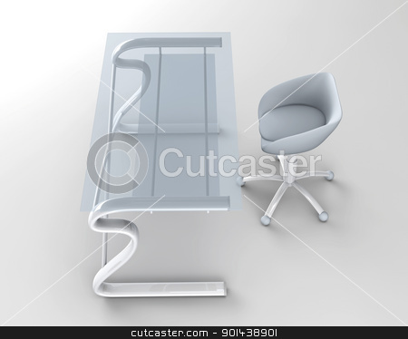 Office Furniture stock photo, 3D rendered office furniture.  by Michael Osterrieder