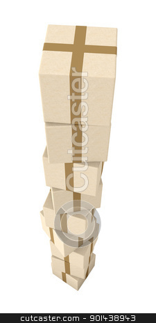 Stack of Packages  stock photo, 3D Illustration.  by Michael Osterrieder