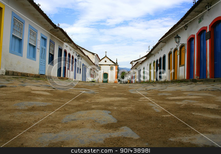 Street in Parati stock photo, Empty street in the famous, unesco protected town of Parati, State of Rio de Janeiro. by Michael Osterrieder