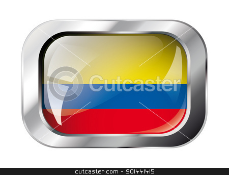 columbia shiny button flag vector illustration. Isolated abstrac stock vector clipart, columbia shiny button flag vector illustration. Isolated abstract object against white background. by mozzyb