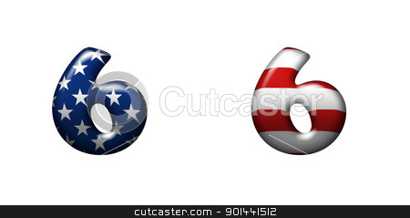 Exclusive collection letters with american stars and stripes  stock photo, Exclusive collection letters with american stars and stripes isolated on white background - 6 by mozzyb