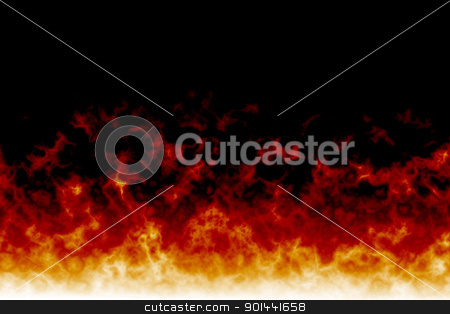 Fire backgound with black space stock photo, Fire backgound with black space by mozzyb