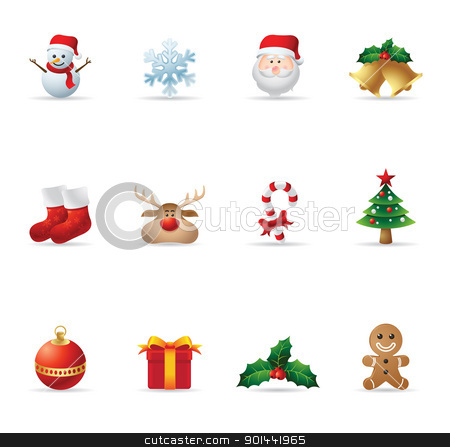 Web Icons - Christmas stock vector clipart, A set Christmas icons. Fully editable EPS file format. by puruan