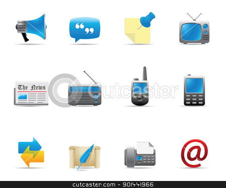 Web Icons - Communication 2 stock vector clipart, Communication icon series.  by puruan