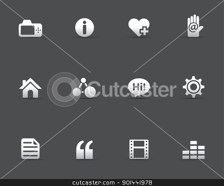 Web Icons - Personal Portfolio stock vector clipart, Personal website and portfolio icons. Fully editable EPS file format. by puruan