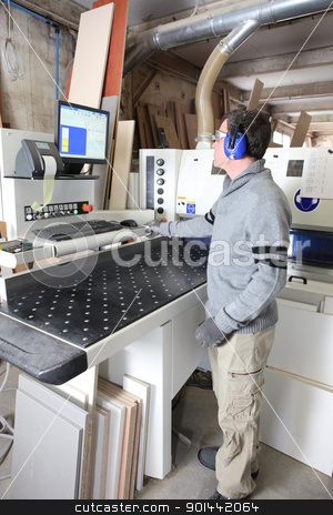 Man working in a factory stock photo, Man working in a factory by photography33