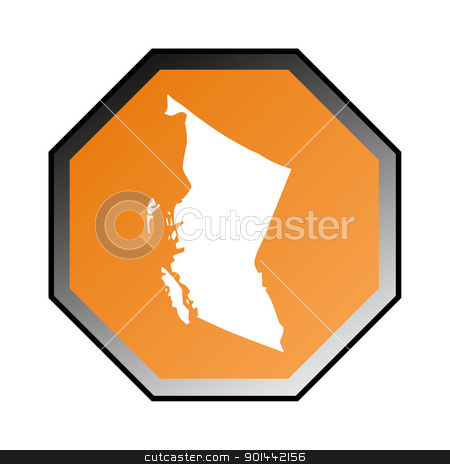 British Columbia road sign stock photo, Canadian state of British Columbia road sign isolated on a white background. by Martin Crowdy