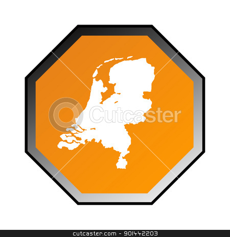 Netherlands road sign stock photo, Netherlands road sign isolated on a white background. by Martin Crowdy