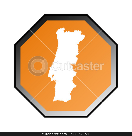 Portugal sign stock photo, Portugal road sign isolated on a white background. by Martin Crowdy