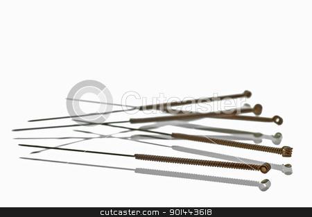 acupuncture needles stock photo, Acupuncture needles by Hans-Joachim Schneider
