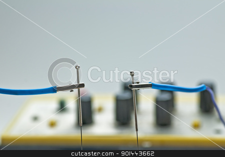 electro-acupuncture stock photo, electro-acupuncture by Hans-Joachim Schneider