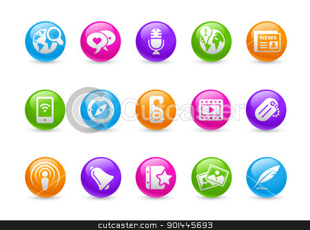 New Media // Rainbow Series  stock vector clipart, Professional icons for your website or presentation. -eps8 file format- by Diego Alies