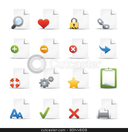 Web & Internet Icons // Pages  stock vector clipart, Professional icons for your website or presentation. by Diego Alies