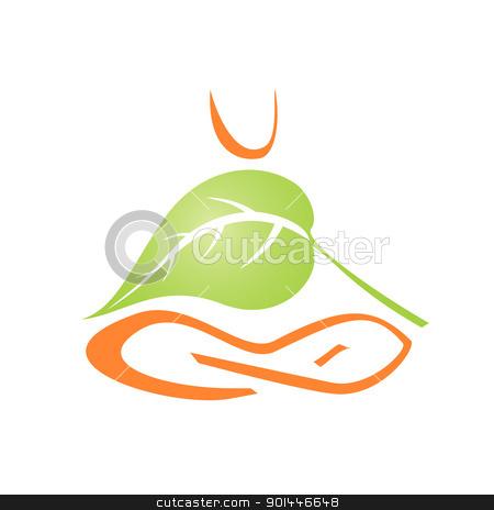 yoga icon stock vector clipart, vector EPS 8 yoga icon by Evgeniy Shadrin