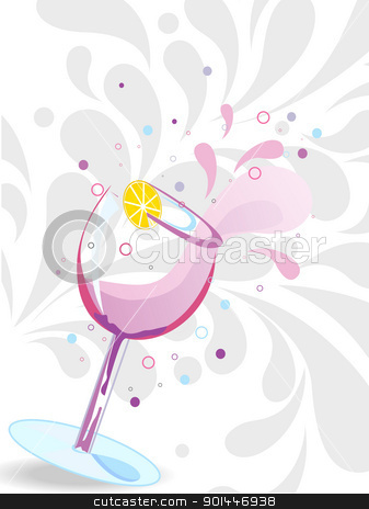 vector illustration for new year celebration stock vector clipart, creative artowk pattern background with artistic cocktail glass vector by Abdul Qaiyoom