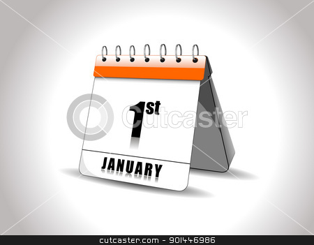 vector new year calender2012 stock vector clipart, vector new year calender by Abdul Qaiyoom