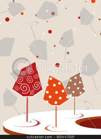 vector cocktail glass backgtound stock vector clipart, cocktail glass concept backgrond, vector illustration by Abdul Qaiyoom