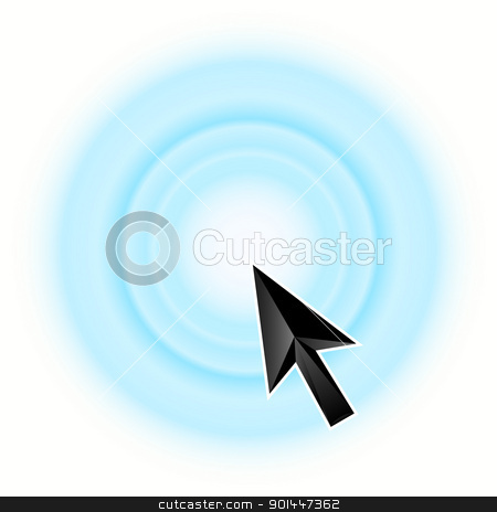 Arrow icon blue stock photo, Arrow icon blue, isolated on white background. Vector illustration. by dvarg