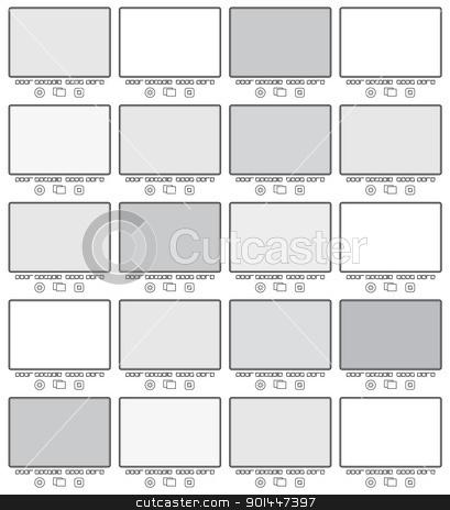 Blank frame in gallery stock photo, Blank frame in gallery for web design. Vector illustration. by dvarg