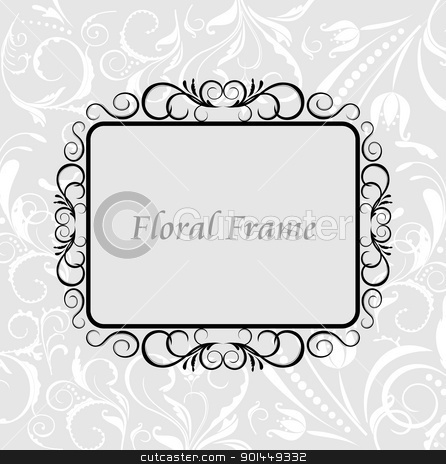 Floral frame stock vector clipart, Floral frame. Vector by -=Mad Dog=-