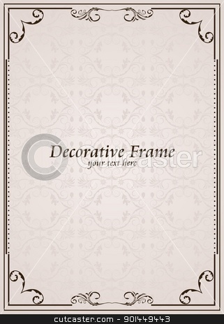 Vector ornate frame stock vector clipart, Vector ornate frame. Perfect as invitation or announcement by -=Mad Dog=-