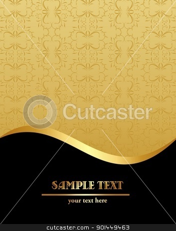 Vintage template stock vector clipart, Vintage template. Vector by -=Mad Dog=-