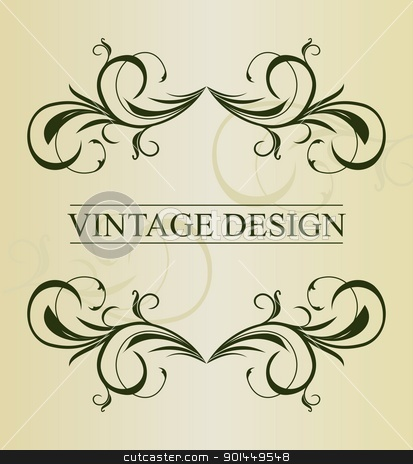 Vintage background card for design - vector stock vector clipart, Illustration vintage background card for design - vector by -=Mad Dog=-