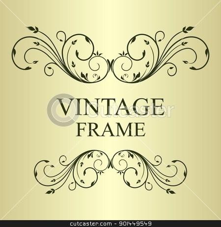 Illustration vintage background stock vector clipart, Illustration vintage background card for design - vector by -=Mad Dog=-