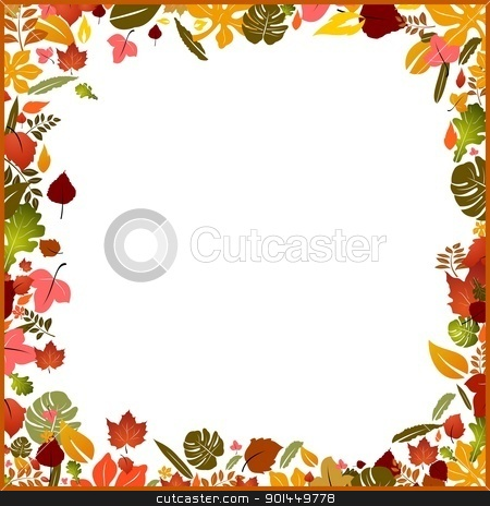Background autumn frame stock vector clipart, Background autumn frame, element for design, vector illustration by -=Mad Dog=-