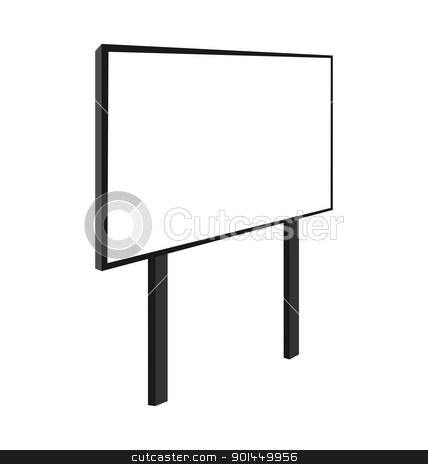 Empty billboard stock vector clipart, Empty billboard isolated on white background - vector by -=Mad Dog=-