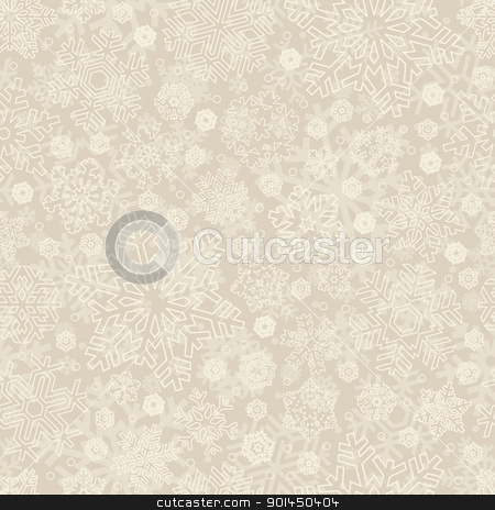 seamless snowflakes pattern (vector) stock vector clipart, seamless snowflakes pattern, perfectly tile-able both horizontally and vertically; scalable and editable vector illustration; by Mila Petkova