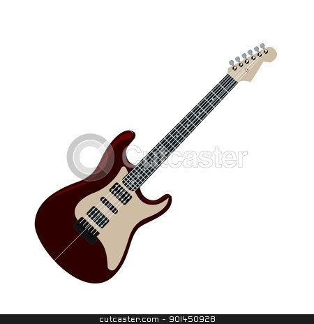 Realistic illustration electric guitar stock vector clipart, Realistic illustration electric guitar - vector by -=Mad Dog=-