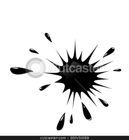 Illustration of black ink splash stock vector clipart, Illustration of black ink splash on white background - vector by -=Mad Dog=-
