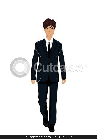 businessman in suit isolated stock vector clipart, Illustration businessman in suit isolated - vector by -=Mad Dog=-