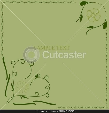 Green flower pattern stock vector clipart, Green flower pattern - vector by -=Mad Dog=-