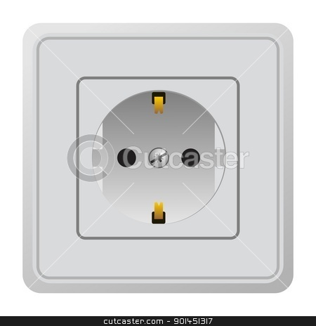 Realistic illustration power outlet stock vector clipart, Realistic illustration power outlet - vector by -=Mad Dog=-