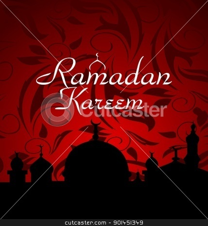 ramazan celebration background stock vector clipart, Illustration ramazan celebration background - vector by -=Mad Dog=-
