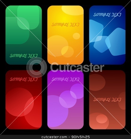 Business colorful cards stock vector clipart, Business colorful cards templates. Vector by -=Mad Dog=-