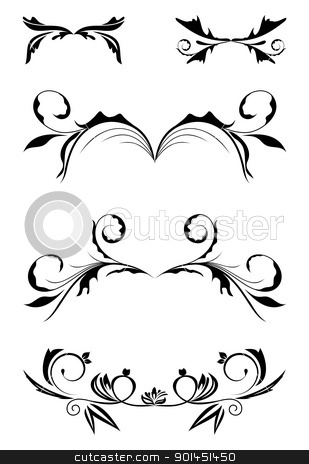 vintage borders stock vector