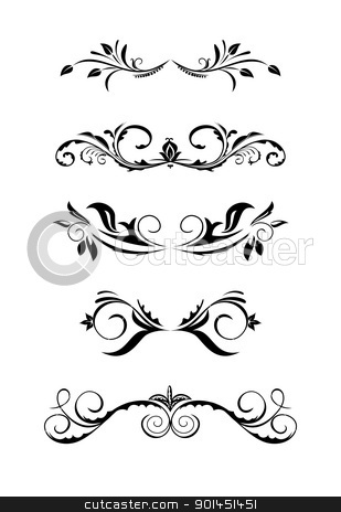 Illustration vintage borders stock vector clipart, Illustration vintage borders, design elements - vector by -=Mad Dog=-