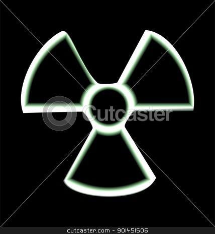 Illustration the warning symbol of radioactive hazard stock vector clipart, Illustration the warning symbol of radioactive hazard isolated on black background - vector by -=Mad Dog=-