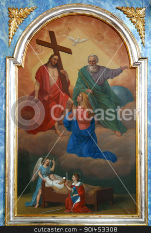Holy Trinity with Virgin Mary stock photo, Holy Trinity with Virgin Mary by Zvonimir Atletic