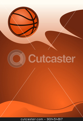 Basketball background stock vector clipart, Vector illustration of basketball vector by Jupe