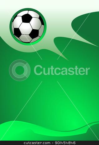 Soccer sport background stock vector clipart, Soccer sport background, vector illustration by Jupe