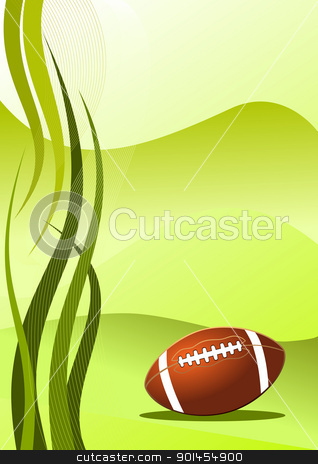 Vector american football background stock vector clipart, Abstract american football background ( vector illustration ) by Jupe