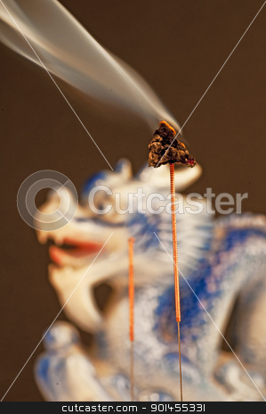 acupuncture needle with moxa stock photo, acupuncture needle with moxa by Hans-Joachim Schneider